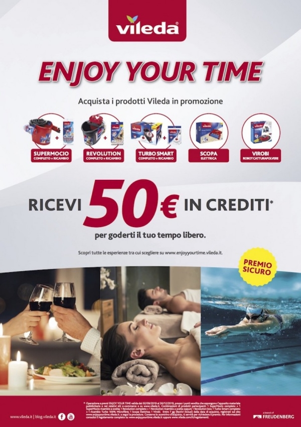 "Vileda in promozione con ""Enjoy your time"""